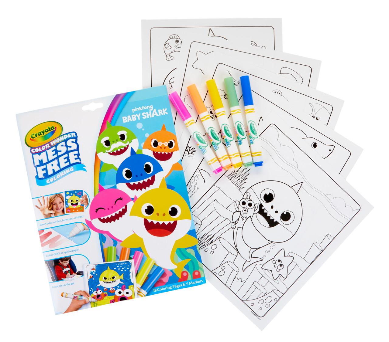 Crayola Color Wonder Mess Free Baby Shark Coloring Set At Toymate Art Craft