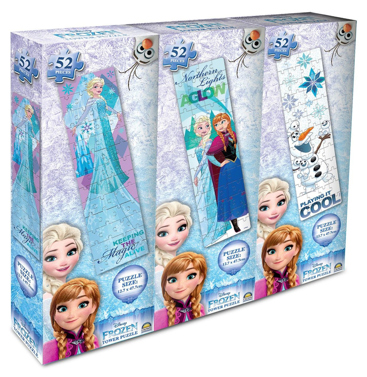 3 Pack Tower Puzzle Girls (Frozen X 2, Peppa X 2,  My Little Pony X 2)