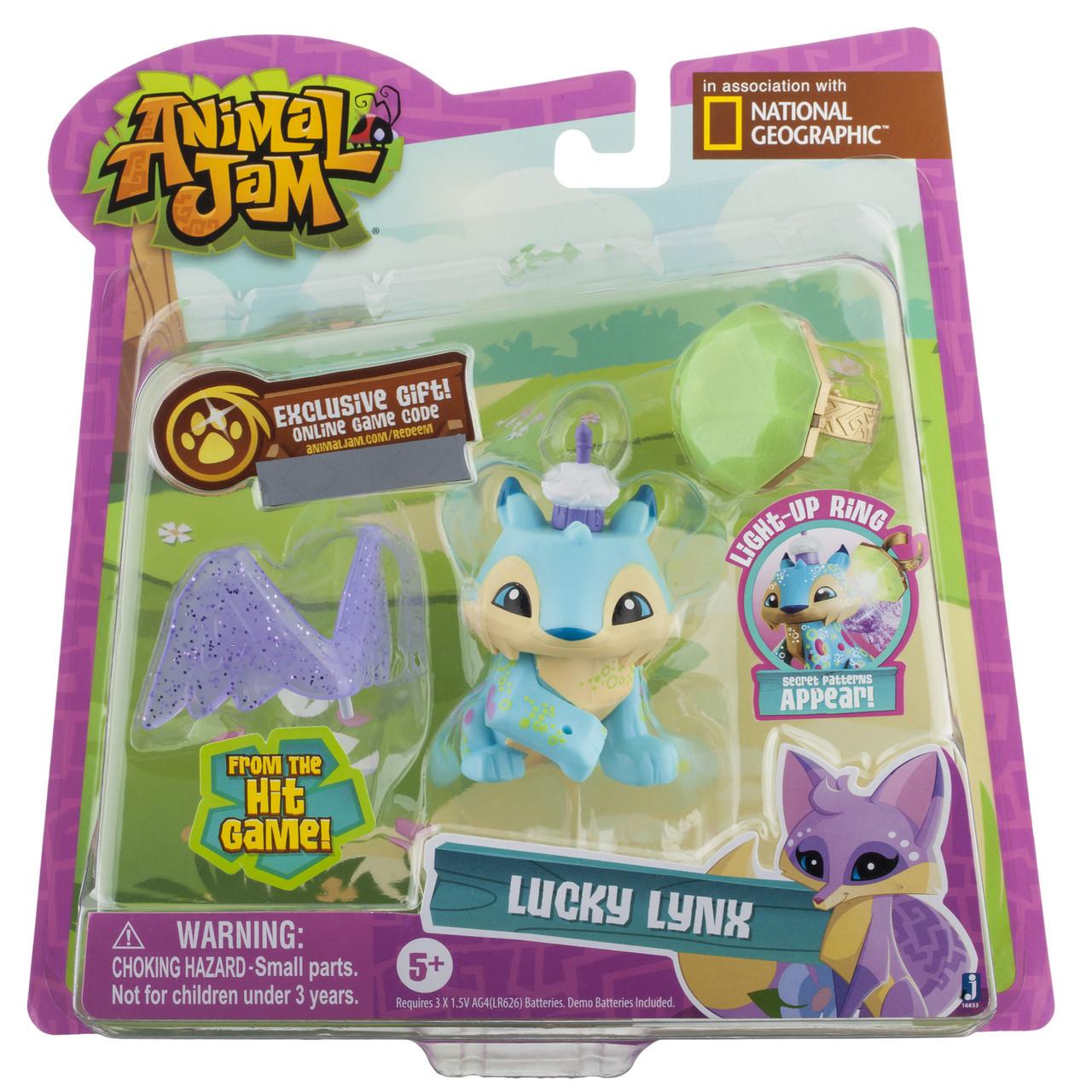 "Animal Jam 5"" Light Up Friends W/Ring Assortment (6)"