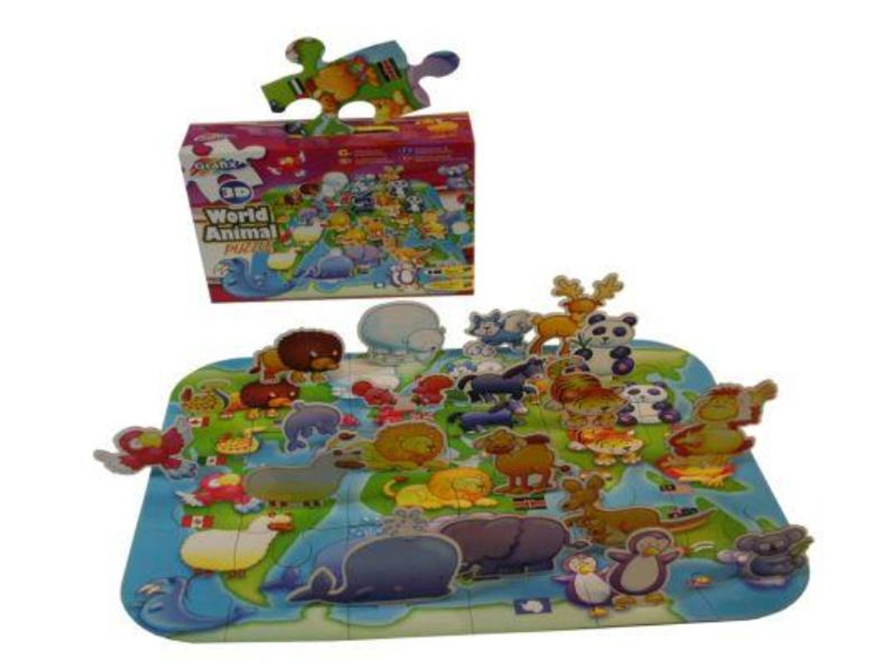 3D Giant World Animal Puzzle