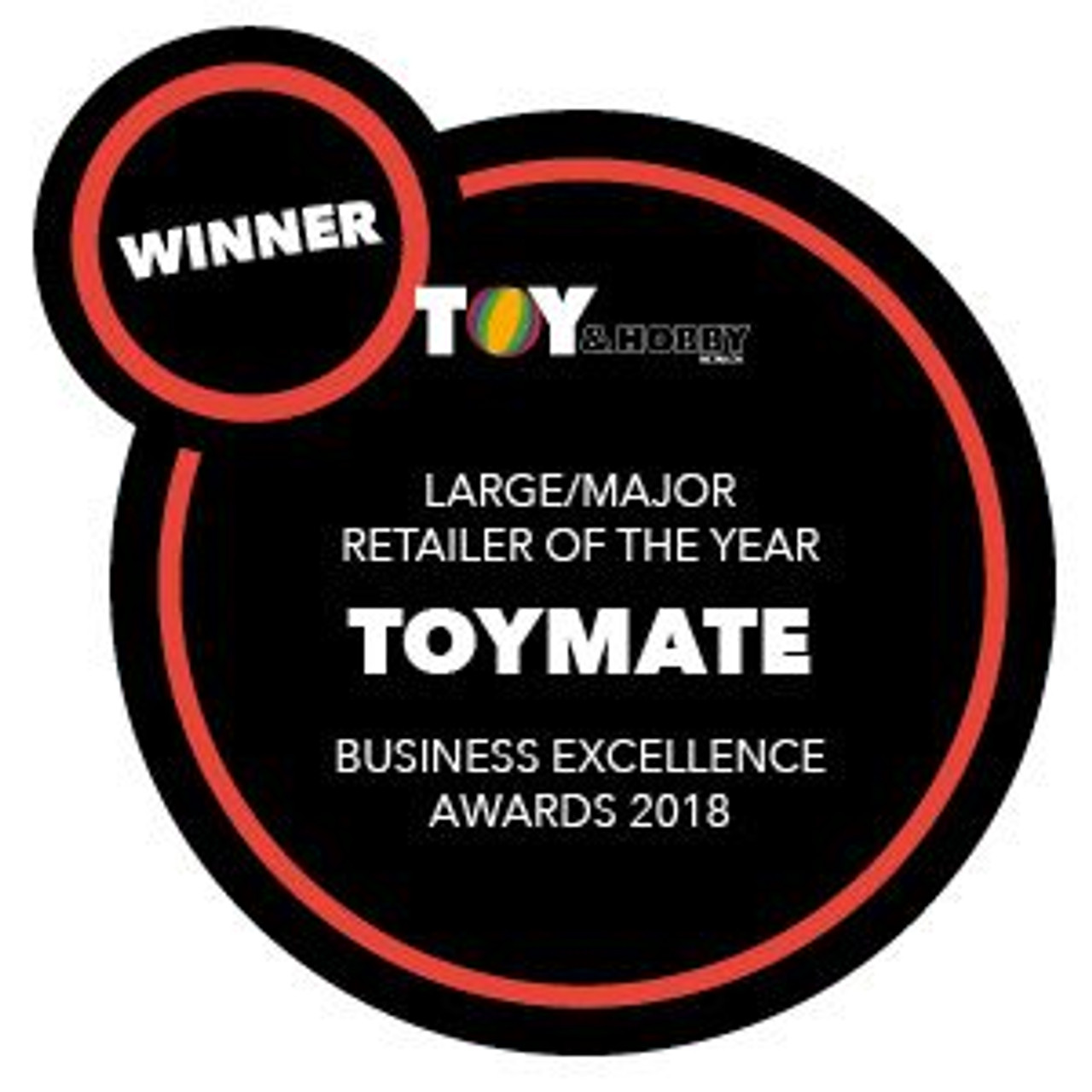 Toymate Wins Toy & Hobby Large Toy Retailer of the Year for 2018