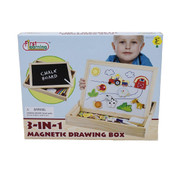 3In1 Wooden Magentic Drawing Box Farm