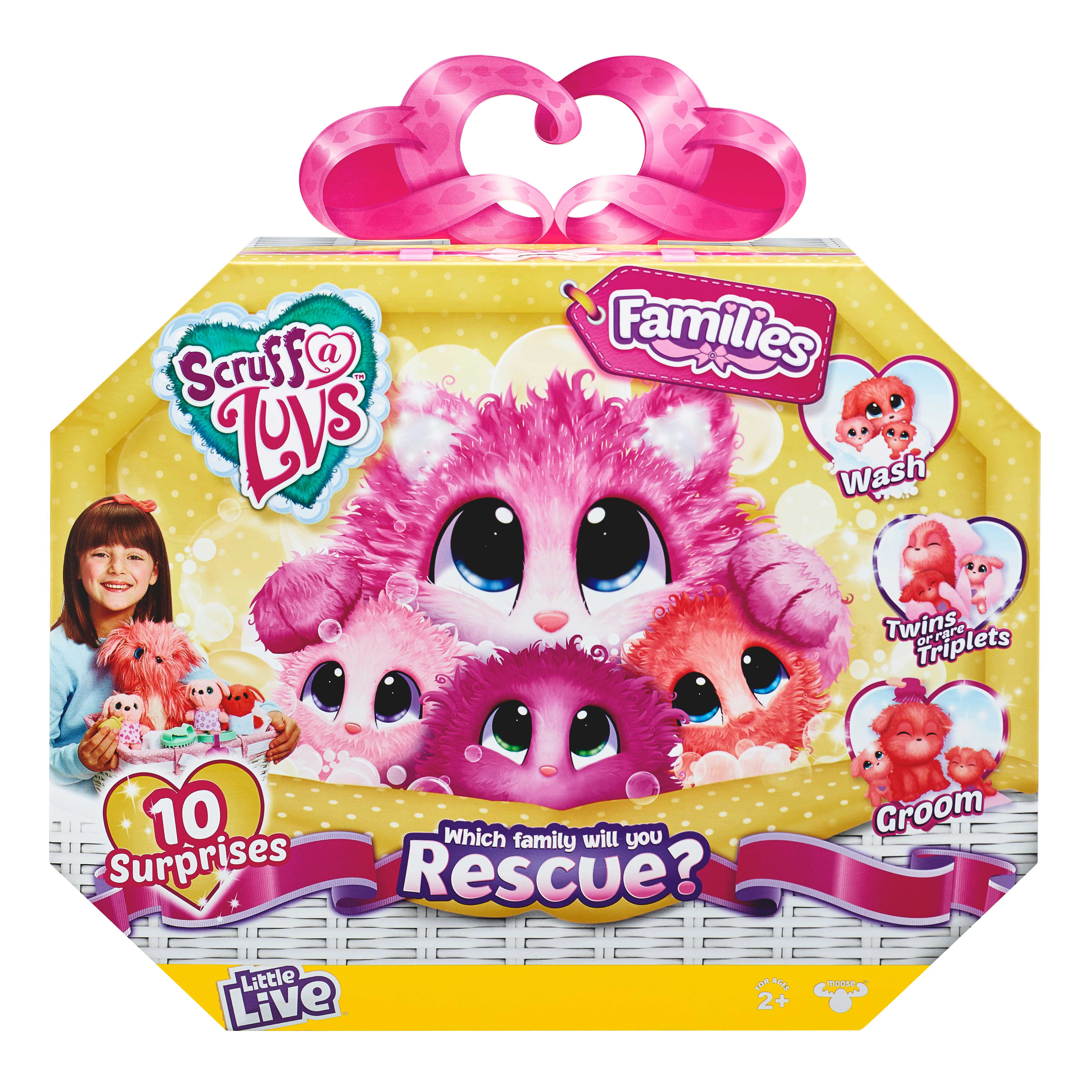 Little Live Scruff-a-Luvs plush mystery rescue pet  Rescue a whole family