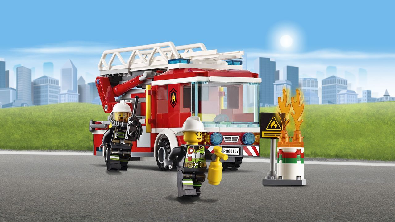 Lego City Fire Ladder Truck 60107 Toymate