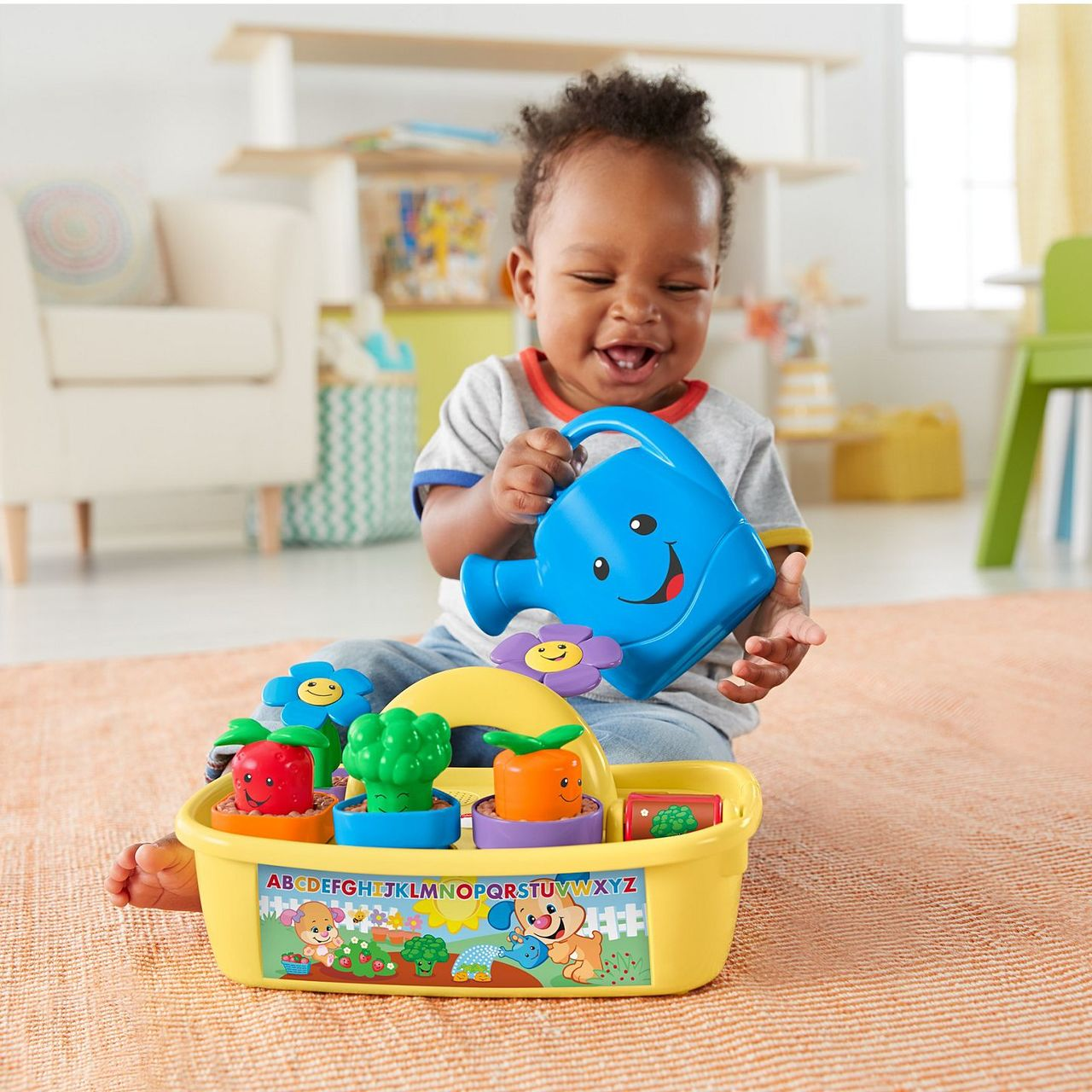 ee282336d746 Fisherprice Laugh & Learn Smart Stages Grow N Learn Garden Caddy ...