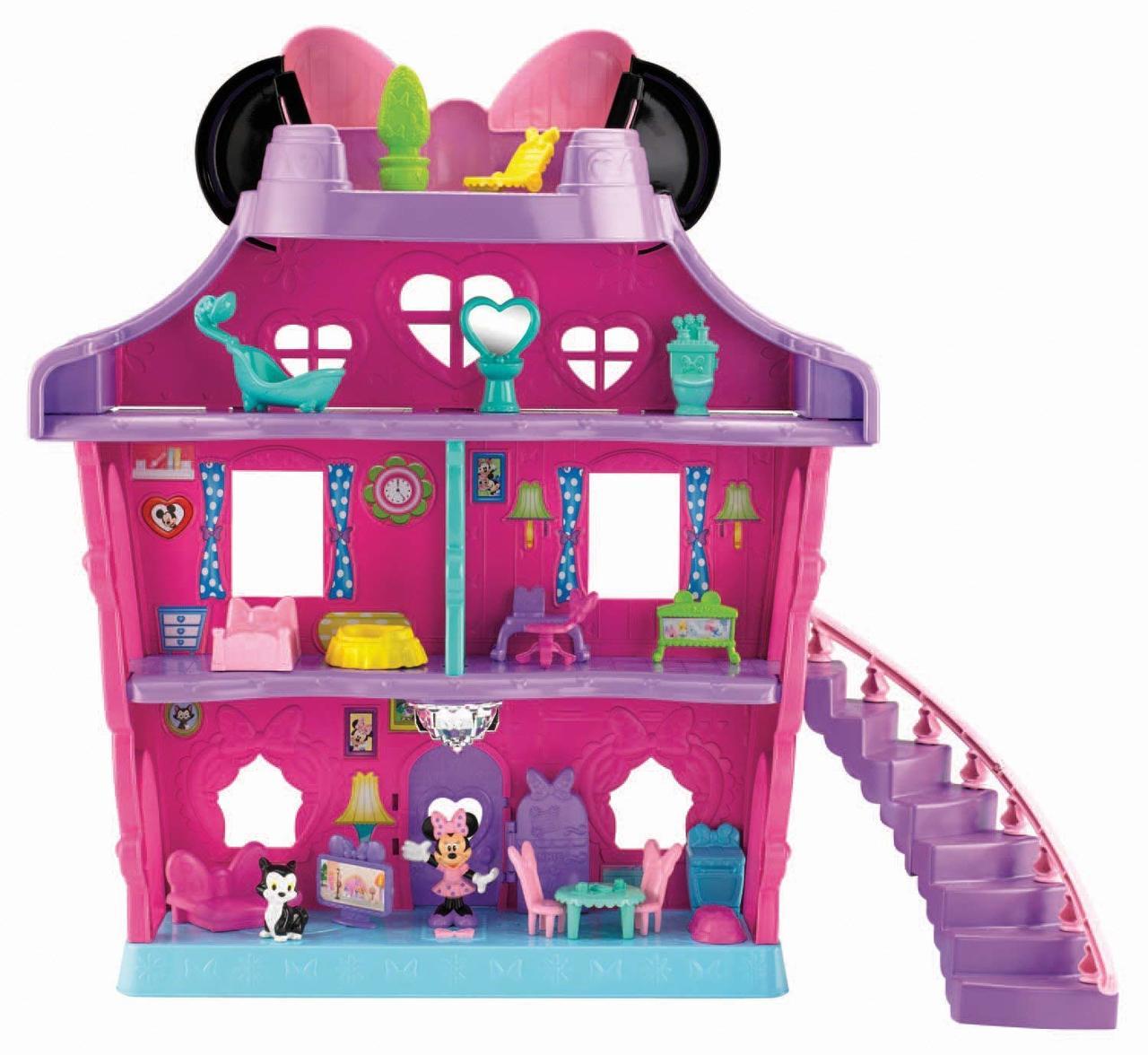 e696ec014bca1 Fisherprice Disney Minnie Mouse Minnie'S Magical Bow-Sweet Mansion ...