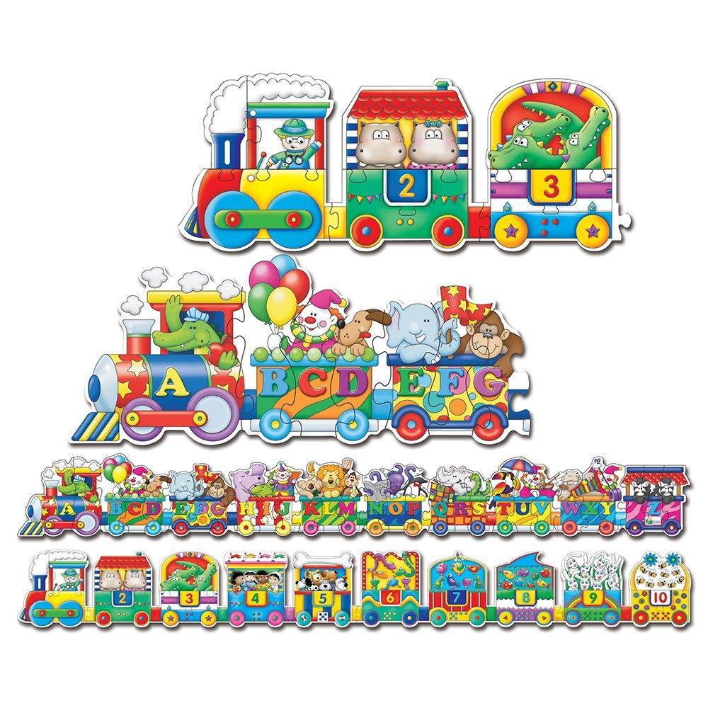 Puzzle Doubles Giant Abc & 123 Train Floor Puzzles