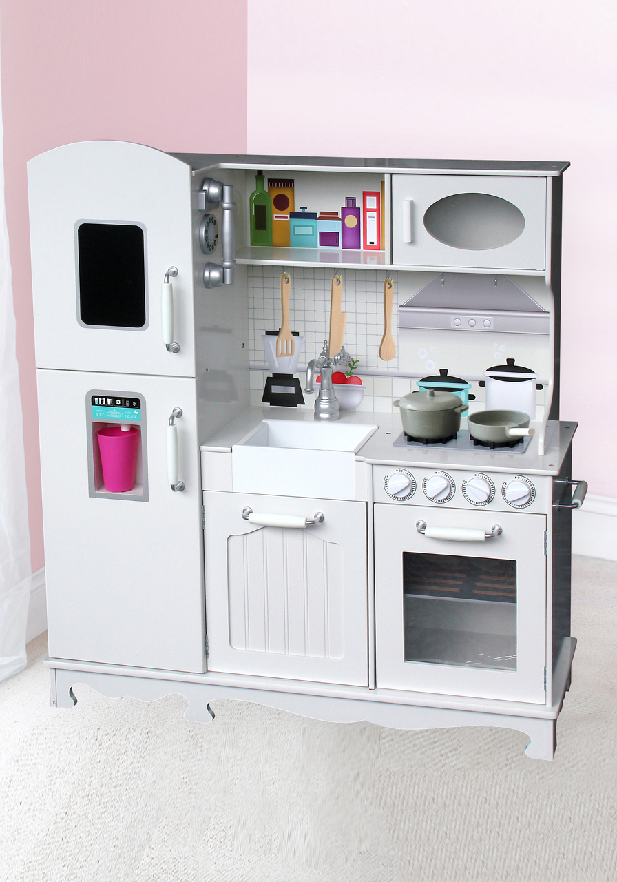 Wooden kitchen white with 5pc access large fancy