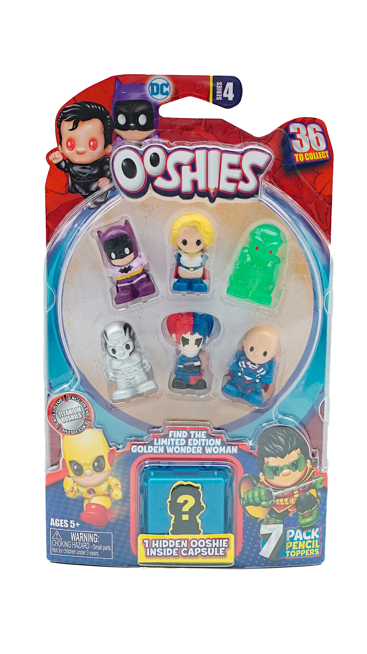 Ooshies DC Comics 4Pack Asst–Wave 2 Action- & Spielfiguren