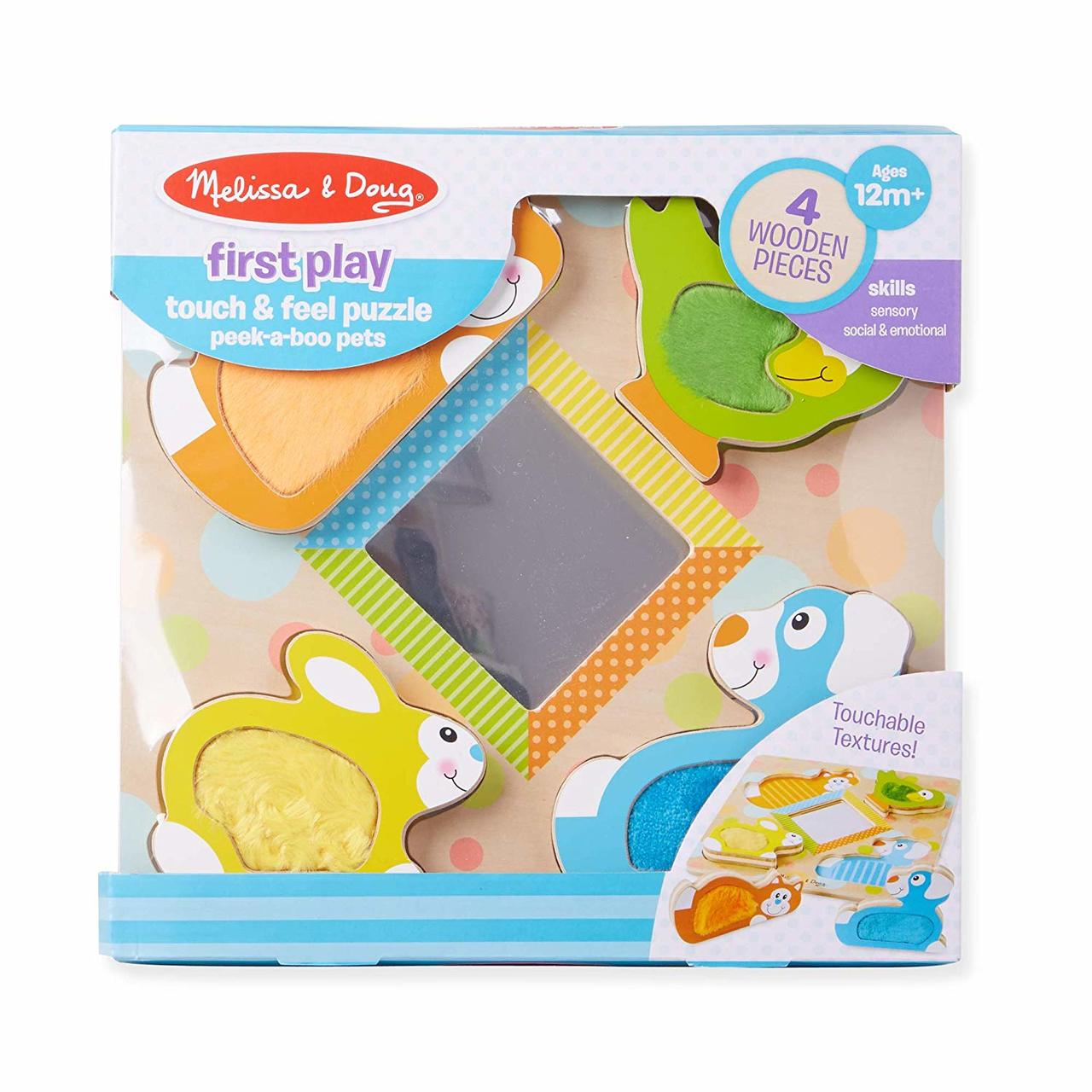 Melissa And Doug First Play Touch Feel Puzzle Peek A Boo Pets Mnd1898
