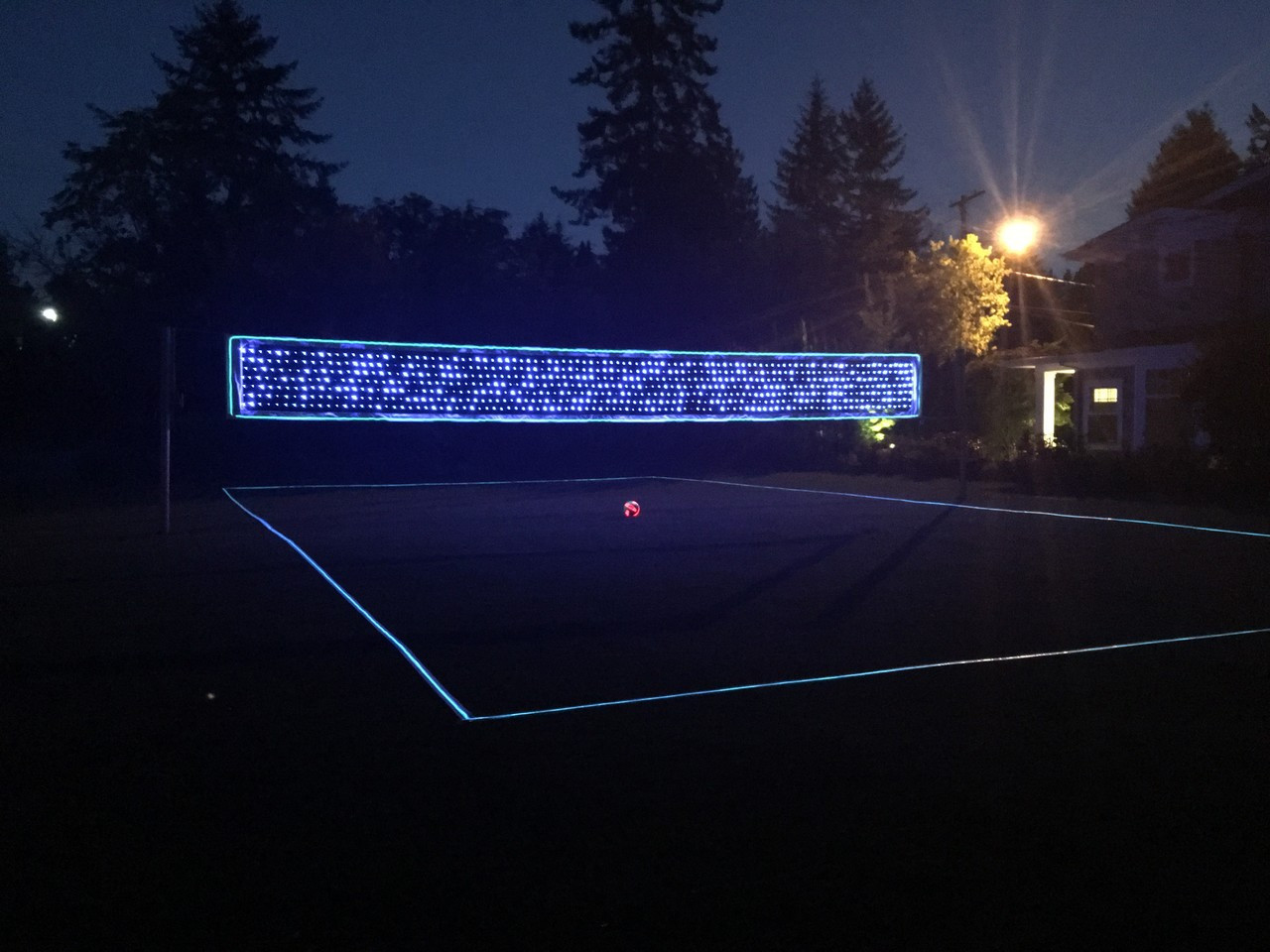 Light Up Volleyball Net & Boundary Lines