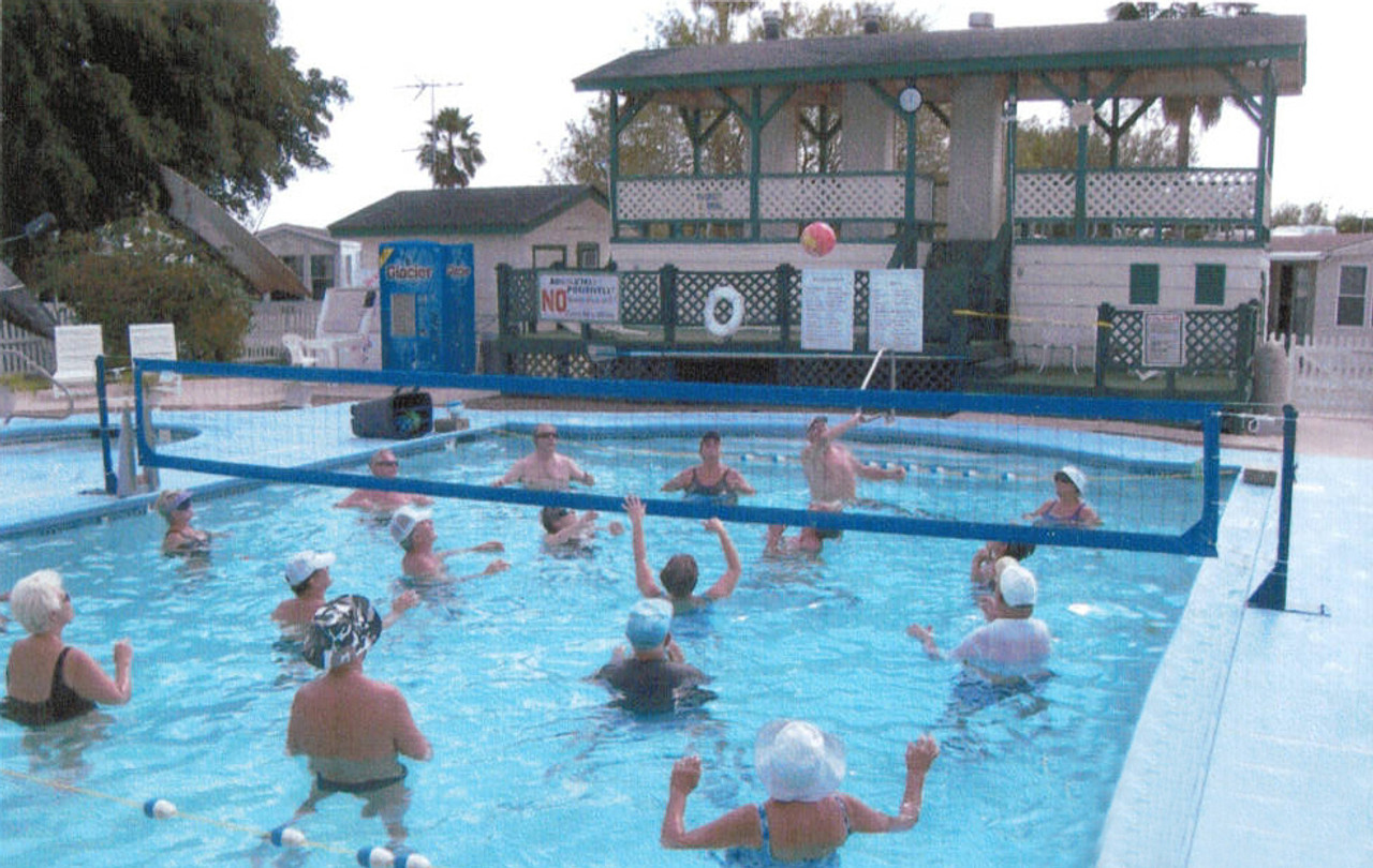 Bolt-Down Pool Volleyball System