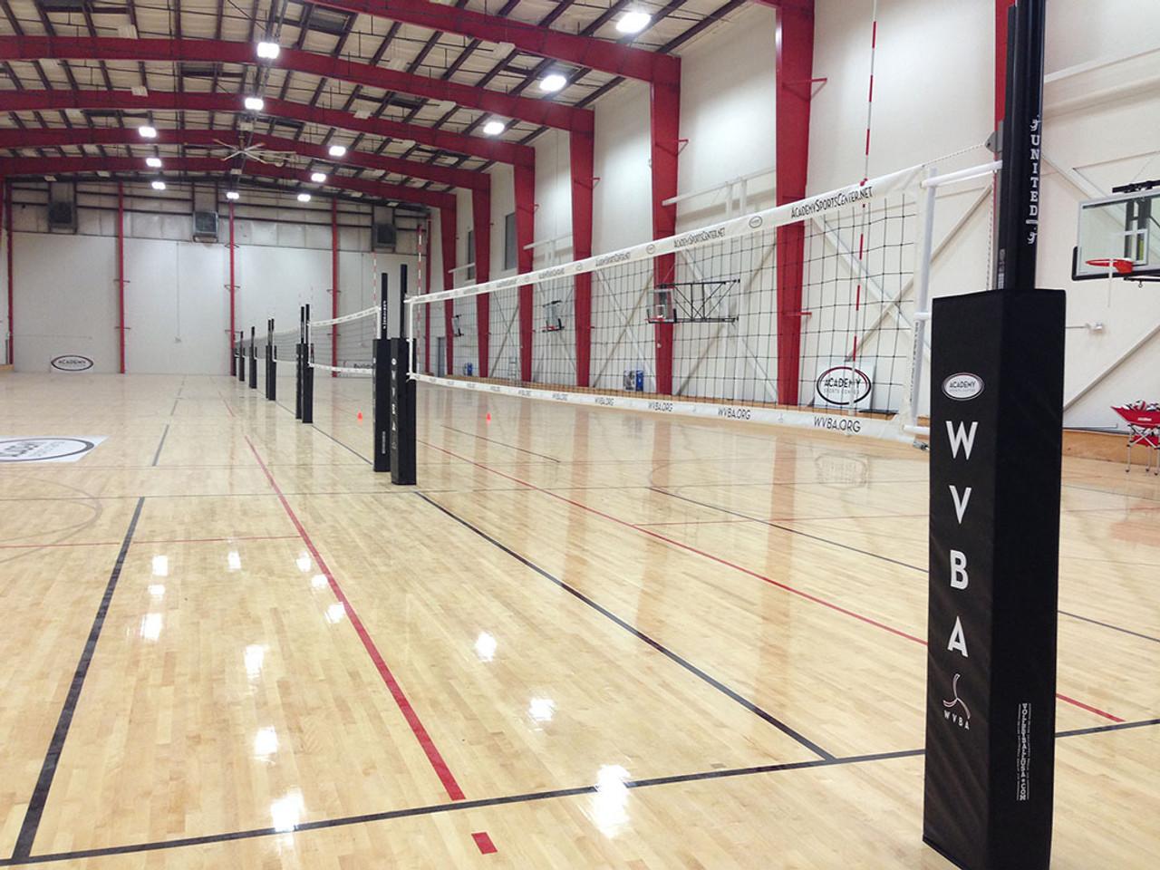 Indoor Volleyball System Aluminum Systems Monson Slider Aluminum Indoor System