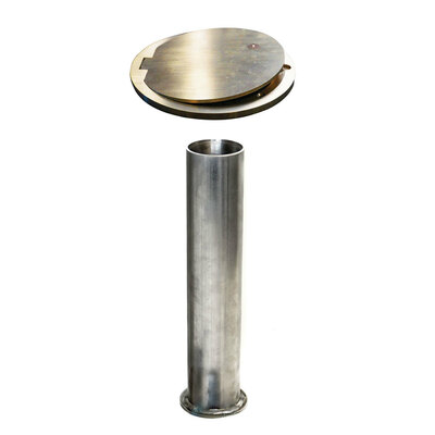 floating brass plate with badminton sleeve