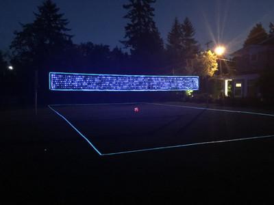 Light Up Volleyball Net & Boundary Lines
