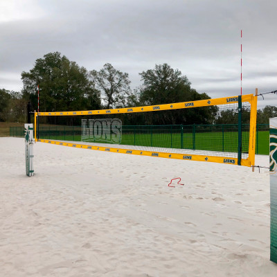 Lions printed netting volleyball net