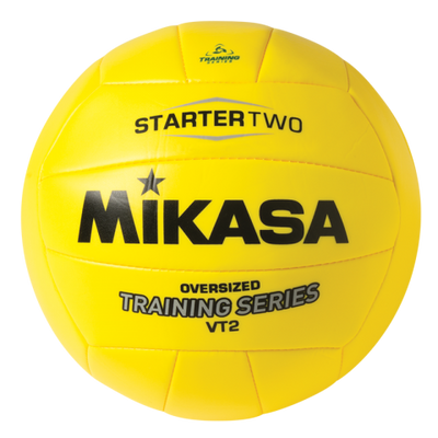 Great ball for beginner players.  This volleyball is easier to pass, set and hit due to it's larger size and is very gentle on the skin since it is lighter weight.