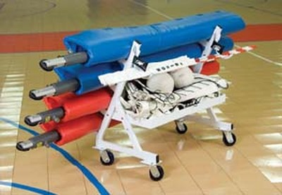 Four Pole Volleyball Transport Cart