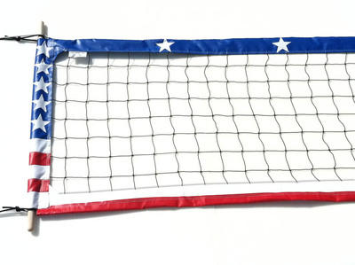 "4"" Professional American Flag Volleyball Net"