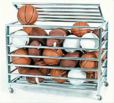 KP Lockable Steel Ball Cart