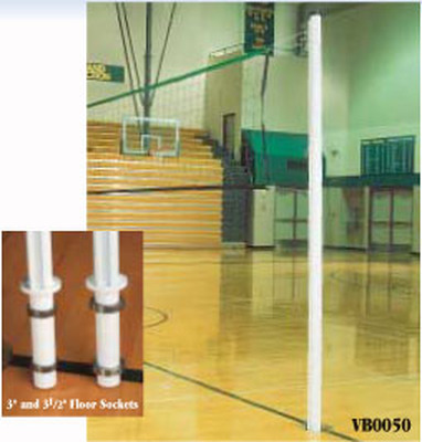 """VB0050 Universal 2 3/8"""" Game Standard System - Indoor Volleyball Poles"""