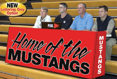Scorers Table With Custom Lettering In Bleacher Design