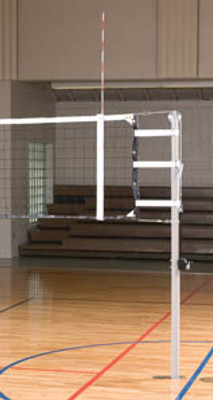"""International 3"""" Aluminum Volleyball System - Shown without padding which can be ordered separately below."""