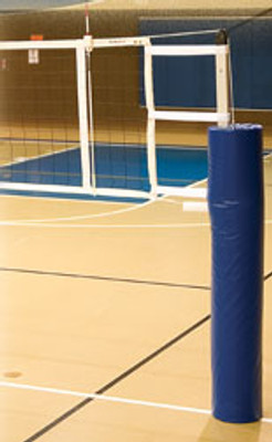 """IAS-3.5 International 3.5"""" Aluminum Volleyball System With Pads - Top section of pole is square adding stiffness while the bottom section of pole is round for ease of use"""
