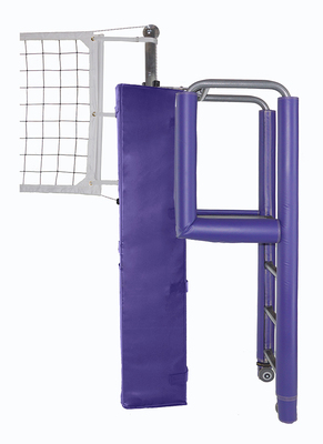 "United 3-1/2"" PIN-STOP Hybrid Carbon Fiber / Aluminum Volleyball System - Shown with padding."