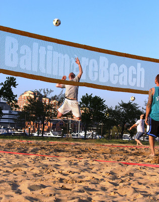 """2/"""" 8m Only Beach Volleyball Boundary Lines Blue"""