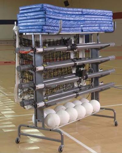 Eight Pole Volleyball Transport Cart