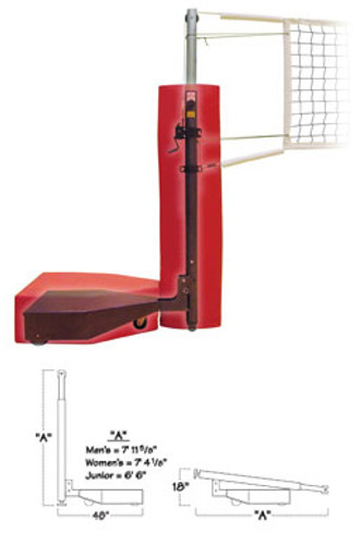VB-CF: Collapsible Freestanding Volleyball Net System