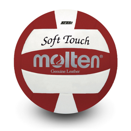 molten soft touch red and white
