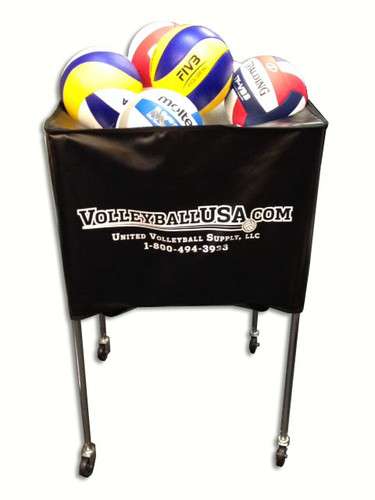 VolleyballUSA.com Deep Basket Style Ball Cart