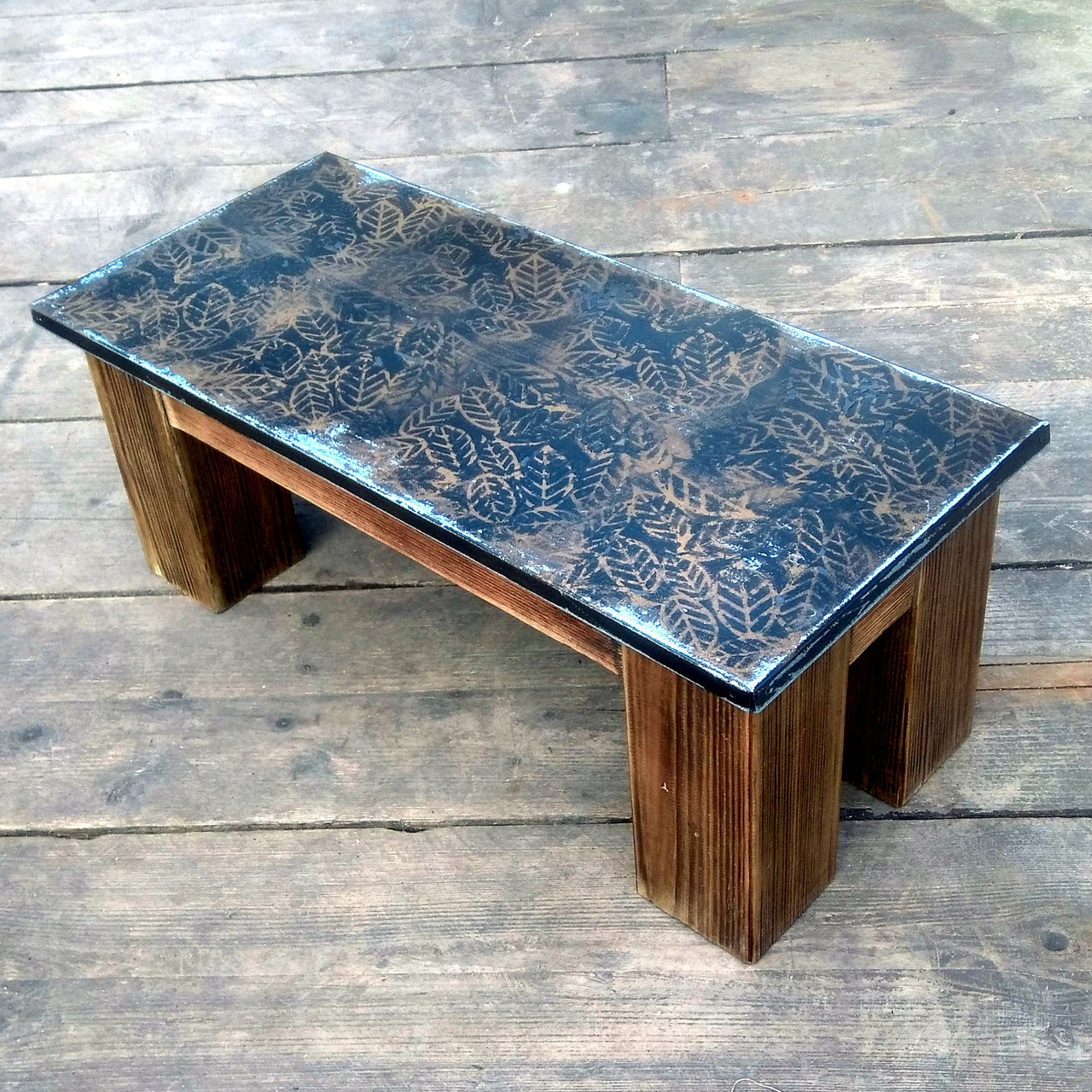 Reclaimed Wood Metal Coffee Table.Metal Side Table With Gold And Black Paint Finish Great Mix Of Reclaimed Wood And Steel Unique Handmade Table