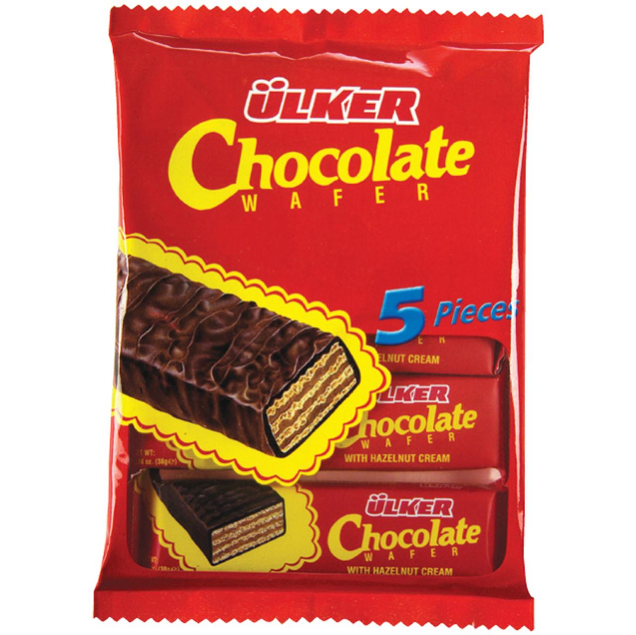 ULKER Chocolate Wafer 5 in 1 Pack (Çikolatalı Gofret 5'li) 190g
