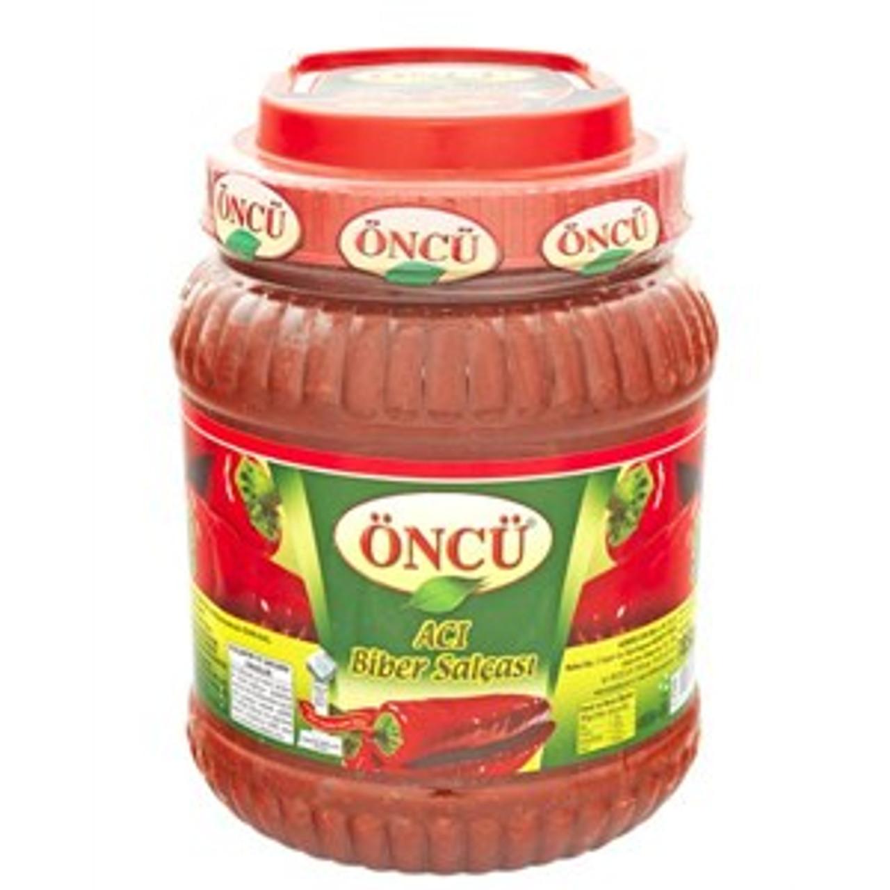 ONCU HOT Pepper Paste (ACI Biber Salçası - 1850 gr)