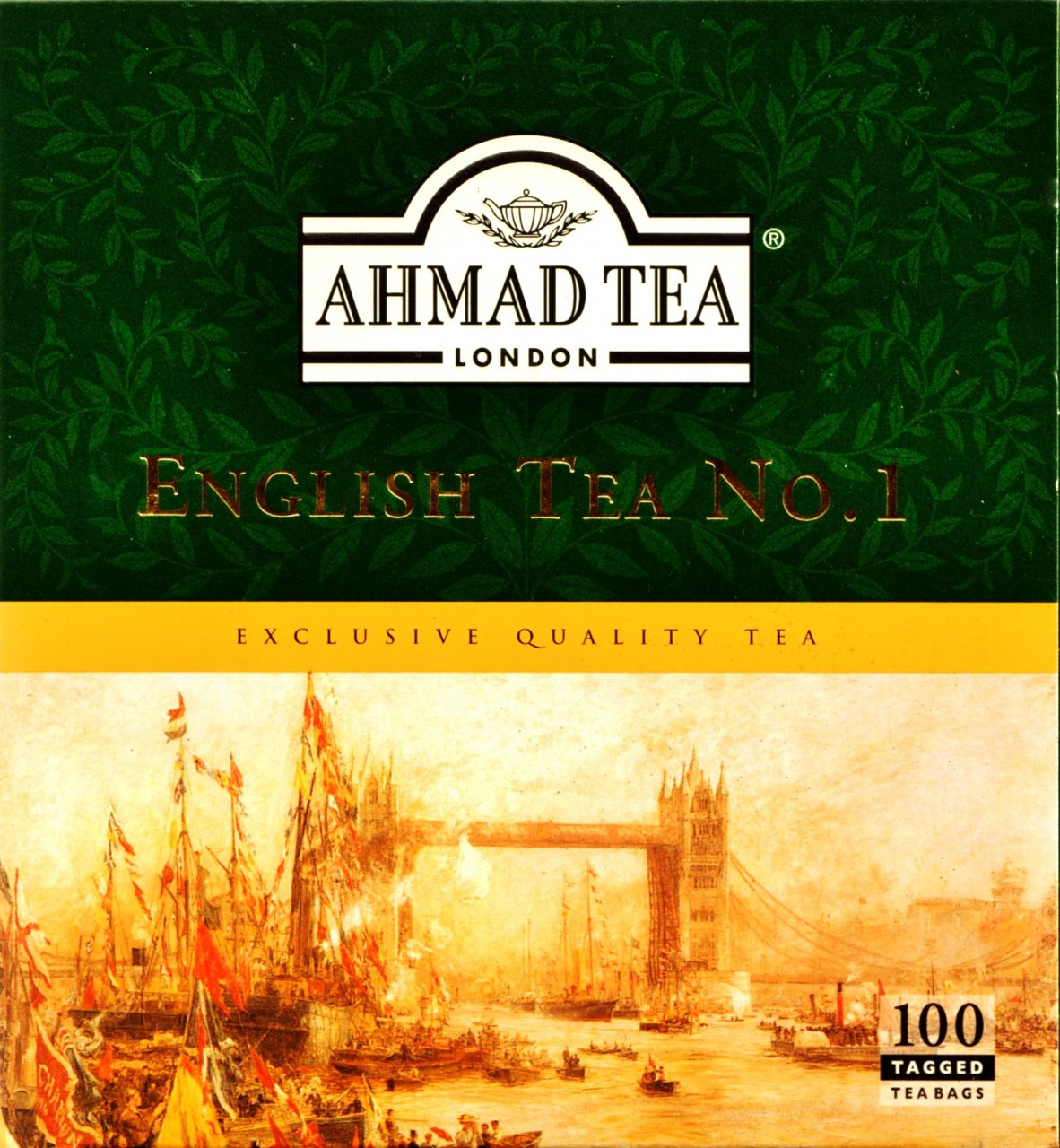 AHMADTEA ENGLISH TEA NO. 1 100 TEA BAGS (200G)