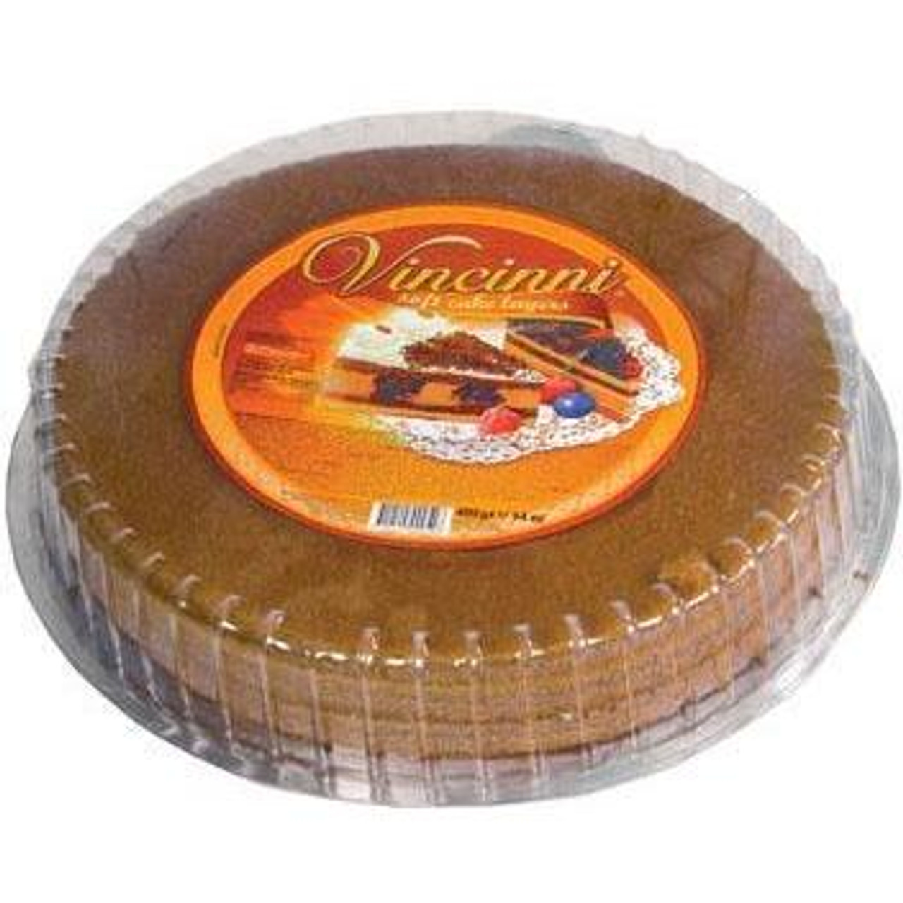 Vincinni Round Soft Cake Layer (Pre-Baked Dark w/cacao)
