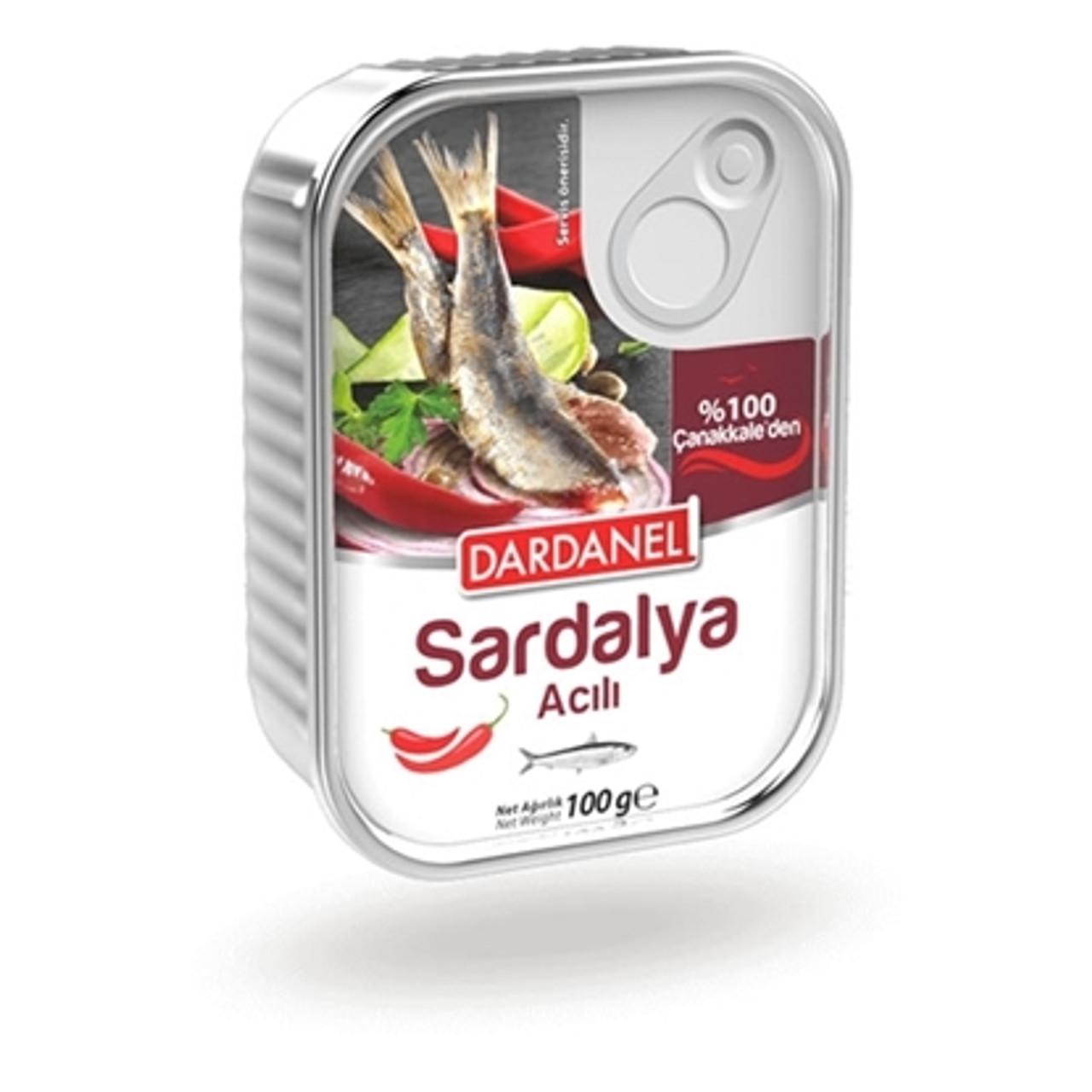 Hot Sardines in Oil Dardanel     100g.