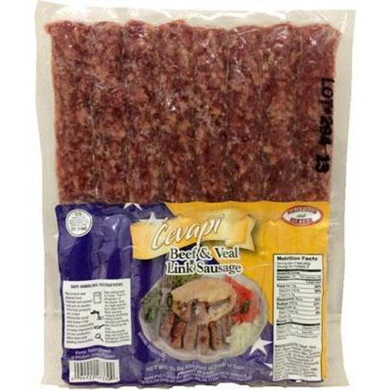 BROTHER&SISTER Cevapi Fresh Frozen Link Sausage (Clear Vac-Pack) [GA STORE PICK UP AND LOCAL DELIVERY PRODUCTS ONLY]