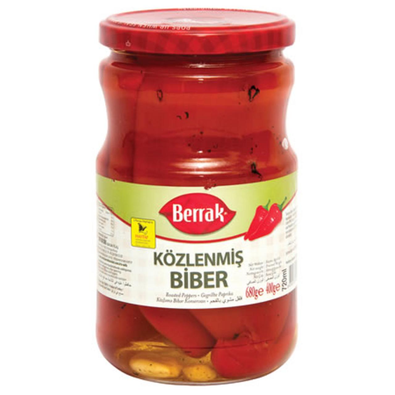 BERRAK Roasted Peppers (Kozlenmis Biber) 720g