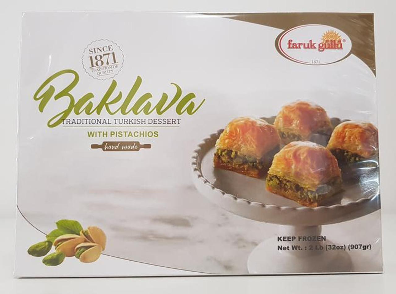 FARUK GULLU BAKLAVA WITH PISTACHIOS 2 LB