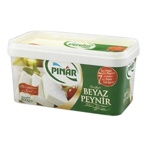 PINAR White Cheese Green Plastic Container - 800g Net Drained Weight