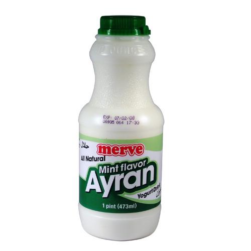 MERVE Ayran Yogurt Drink Mint 1pint
