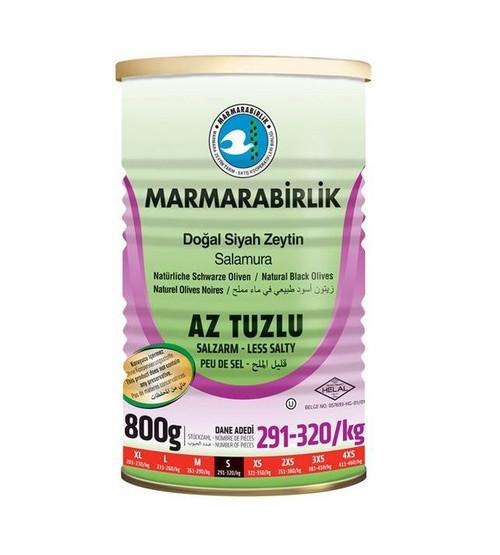 MARMARABIRLIK Black Olives Low Salt 800g