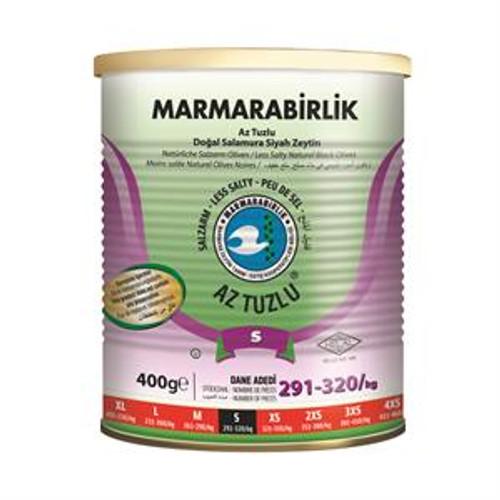 MARMARABIRLIK Black Olives Low Salt 400g