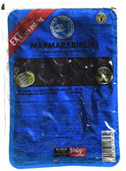 MARMARABIRLIK Extra Gemlik Olives XS Size Blue Pack 500g