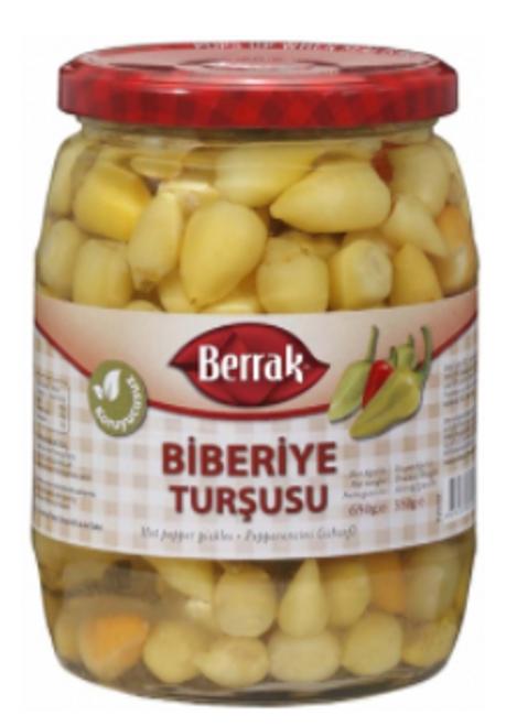 BERRAK Biberiye Pepper Pickles 720g