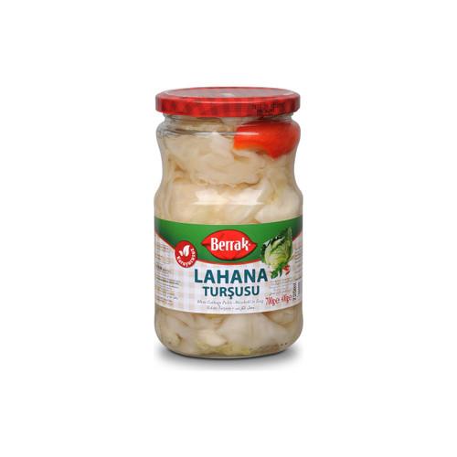 BERRAK Pickled Cabbage (Lahana Turşusu) - 400g Net Drained Weight